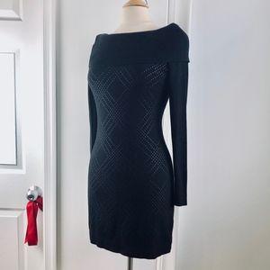 White House Black Market Black Sweater Dress Small